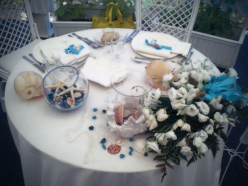 Matrimonio Tema Mare Dalla Sicilia Con Amore Tavolo Sposo Tavolo Degli Sposi Matrimonio