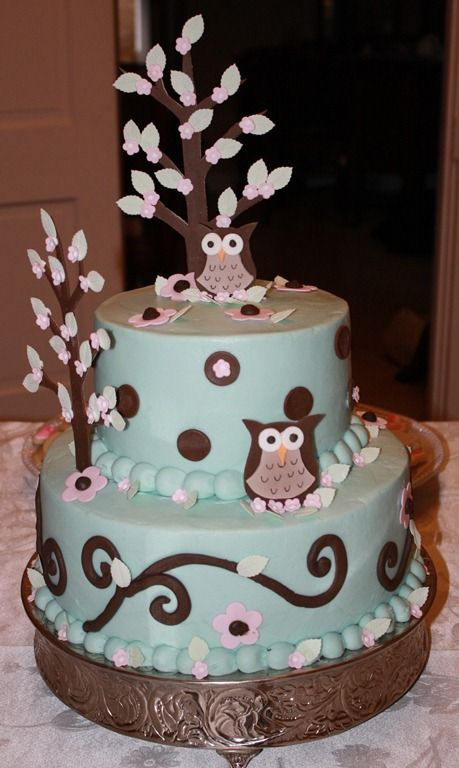 owl birthday cakes for women - Google Search