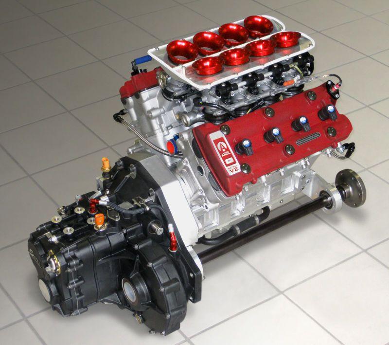 Ariel Atom 500 Engine made from two Suzuki Hayabusa engines married