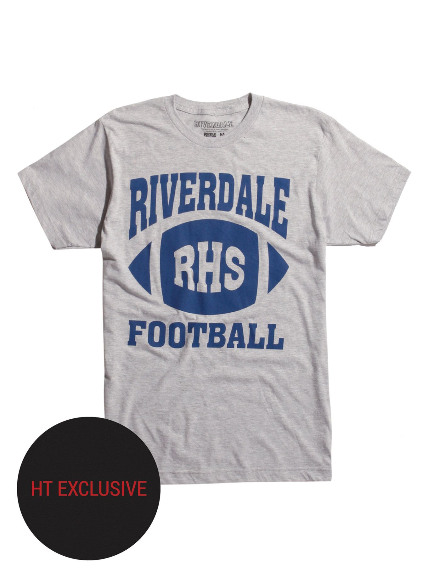 579438eb1 Join the Riverdale football team with this RHS blue logo T-shirt. Hang out  with Archie at Pop's Chock'lit Shoppe or strut down the halls of Riverdale  High ...