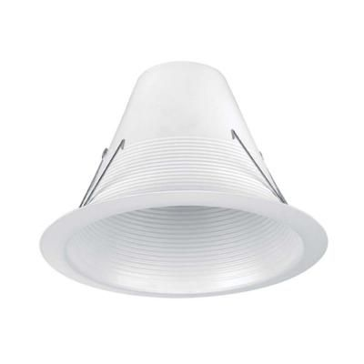 Commercial Electric 6 In White Airtight Recessed Baffle Trim 6 Pack Hbr635wha 6pk The Home Depot Commercial Electric Electric 6 Kitchen Recessed Lighting