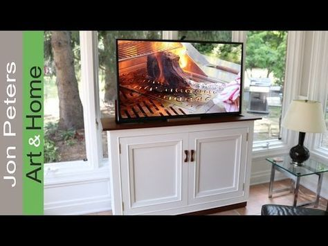 hide your television when not in use by building this tv lift cabinet