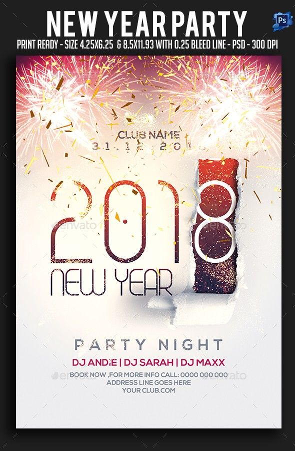 New Year Party Flyer | Pinterest | Party flyer and Flyer template