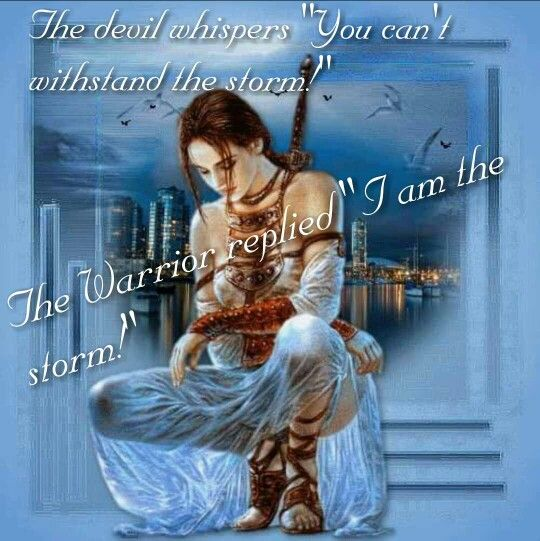 """The Devil Whispers """"You Can't Withstand The Storm!"""" The"""