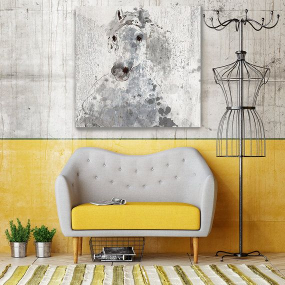 Silver Sunshine. Large Horse, Unique Horse Wall Decor, Gray Rustic ...
