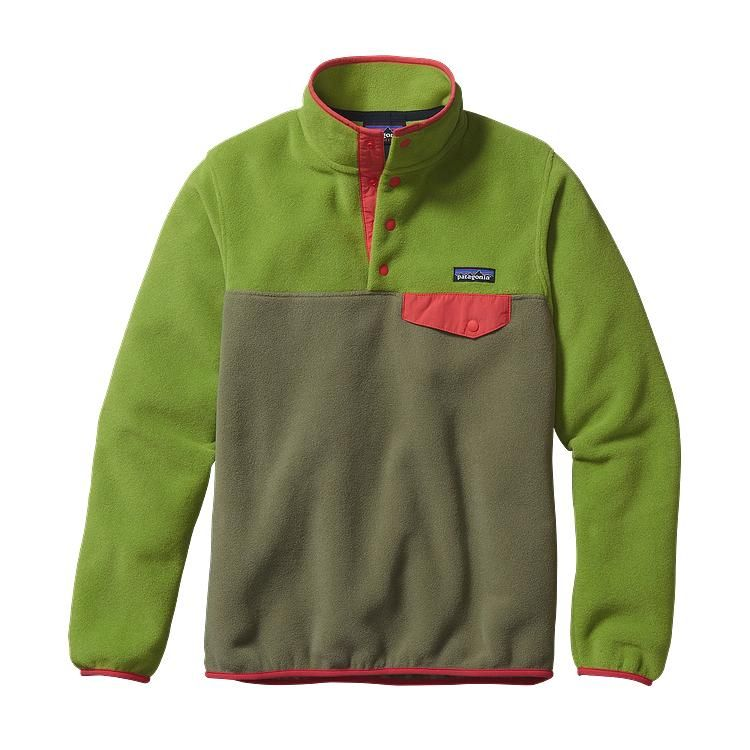 Patagonia Women\'s Lightweight Synchilla\u00AE Snap-T\u00AE Fleece Pullover - Spanish Moss SNM