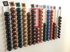 Nespresso capsule wall holder light by the_mike - Thingiverse