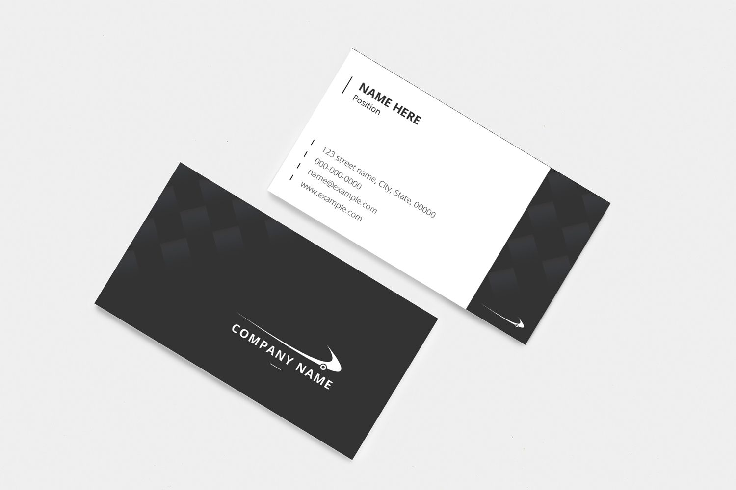 Black White Professional Business Card Corporate Identity Template Business Card Graphic Business Cards Corporate Identity Professional Business Cards