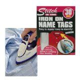 Iron On Name Tags School Uniform Clothing Identity Tape Stickers