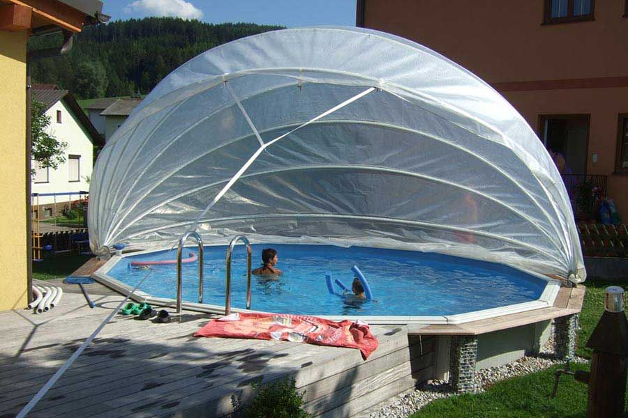 Abdeckungen für den Pool Ideal für Sommer und Winter