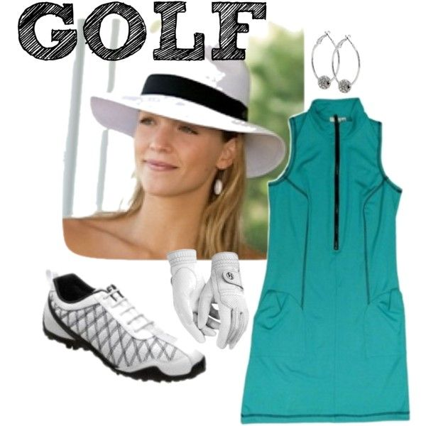 Golf Casual Outfit with Kevan Hall Sport by theladiesproshop on Polyvore featuring FootJoy