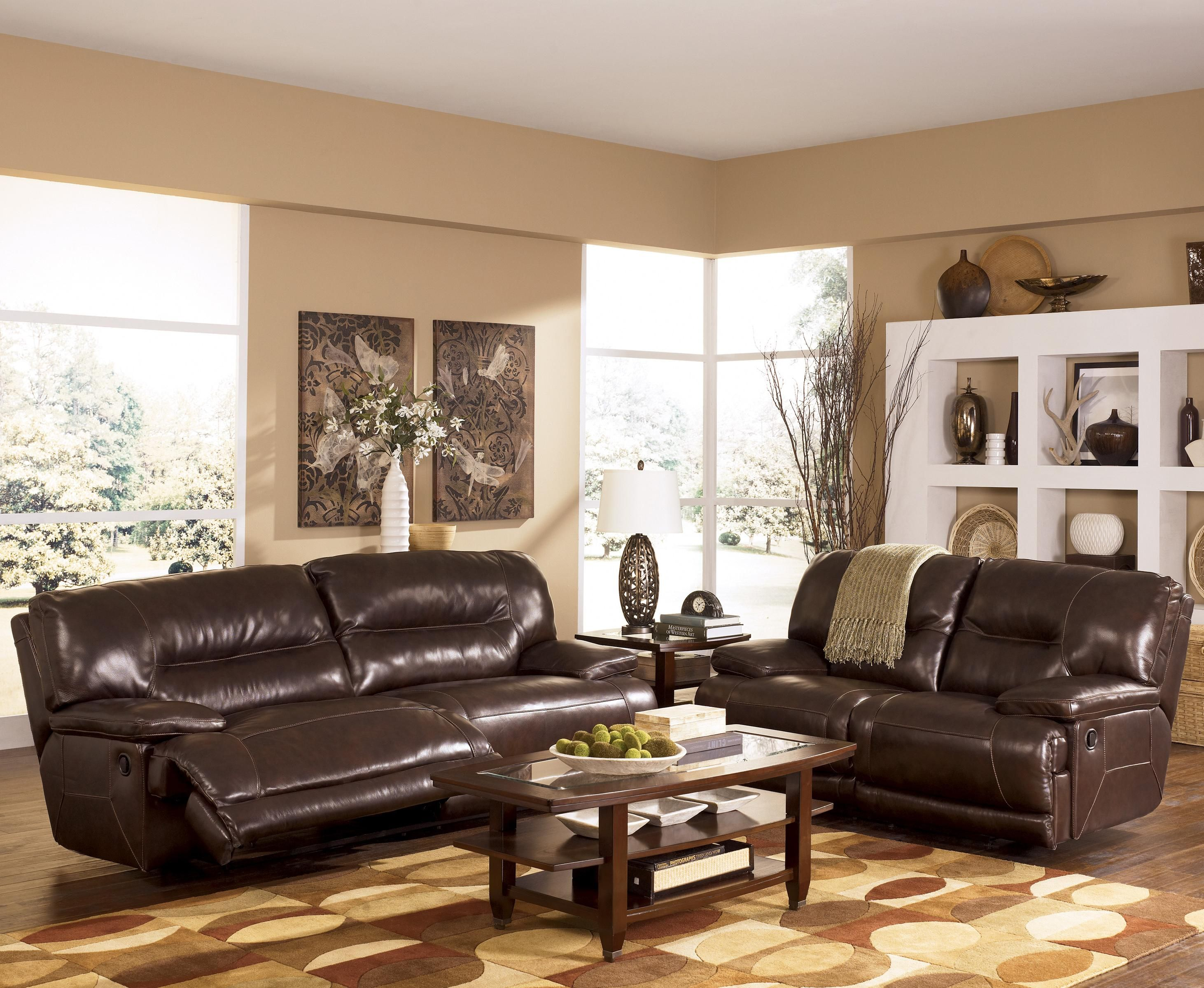 Exhilaration Chocolate Reclining Living Room Group by Signature