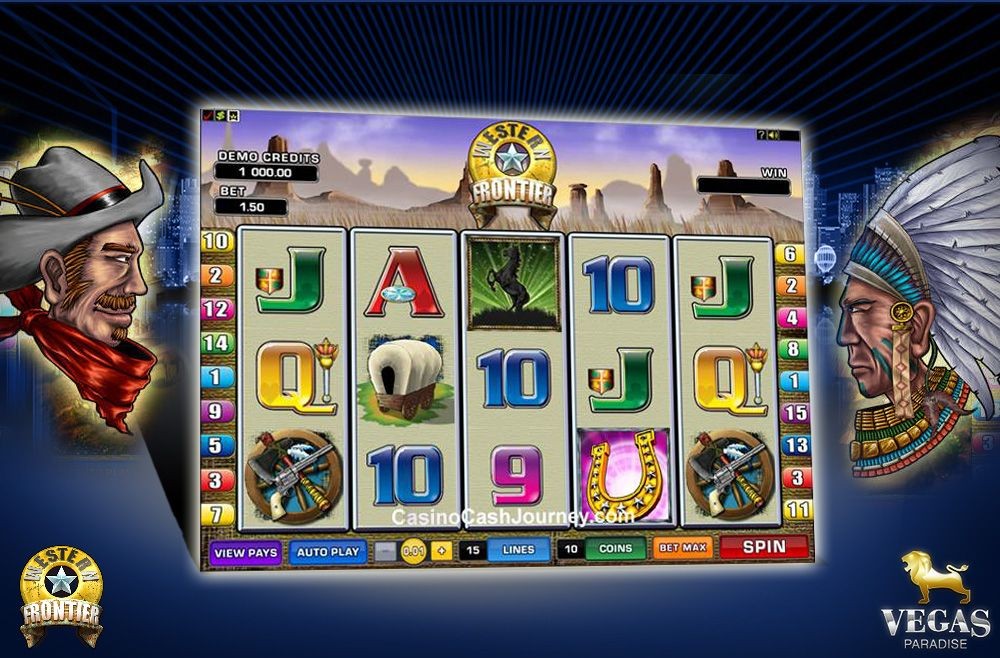 Western frontier is a 5 reel 15 pay line slot game with