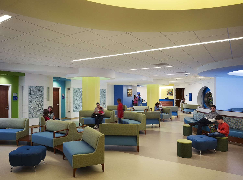 The Waiting Room At Lurie Children S Emergency Department Http Tour Luriechildrens Or Hospital Interior Healthcare Interior Design Hospital Interior Design