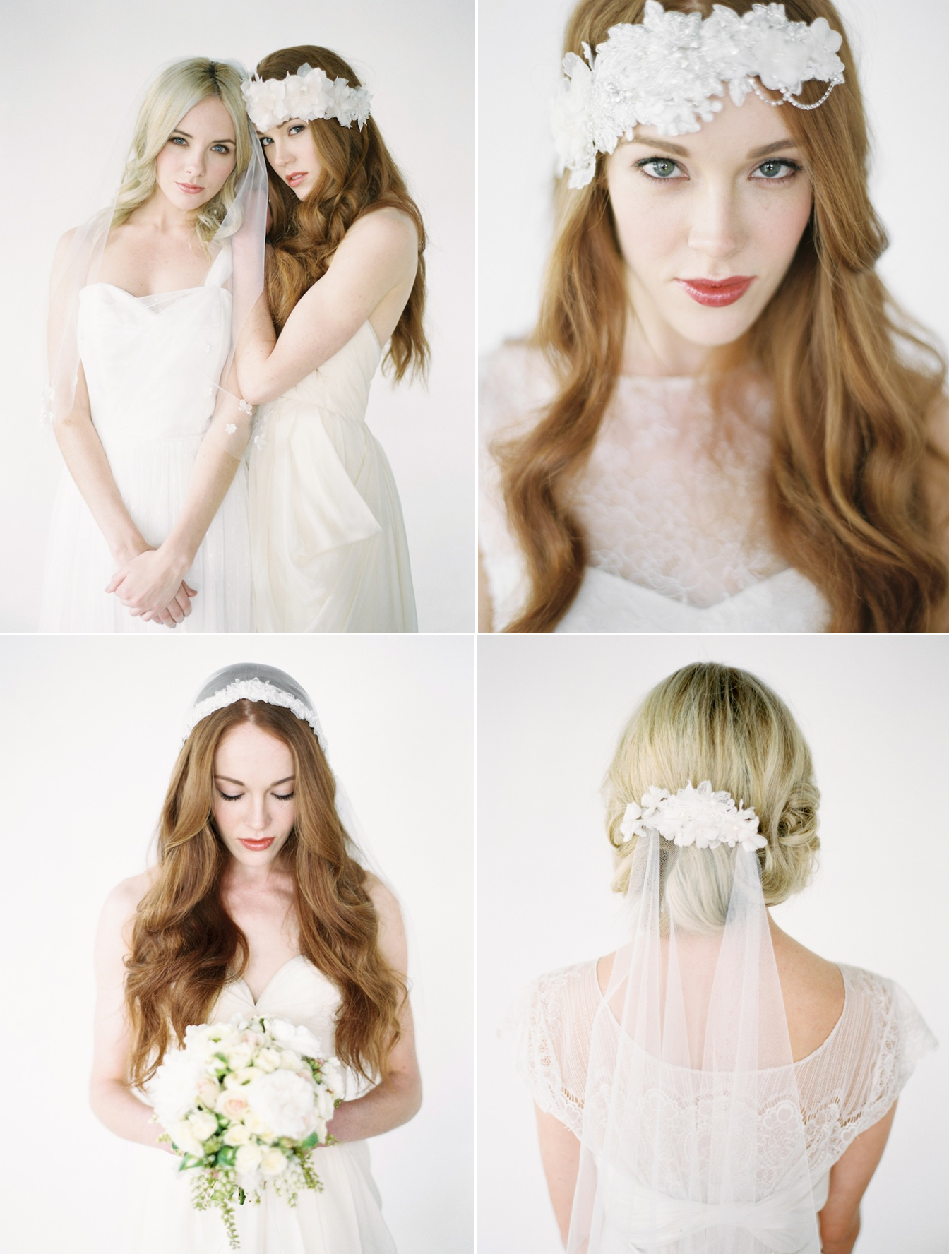 Handmade bridal veils and headpieces by Percy Handmade - Absolutely gorgeous! http://www.theperfectpalette.com/2013/10/sponsored-percy-handmade.html