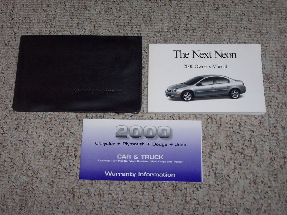 2000 Dodge Neon Sedan Owner Owner S Manual User Guide Set Es Highline 2 0l Owners Manuals Jeep Cars Parts And Accessories