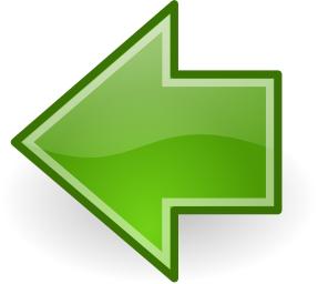 Arrow Gloss Green Left Sticker Sign Arrow Image