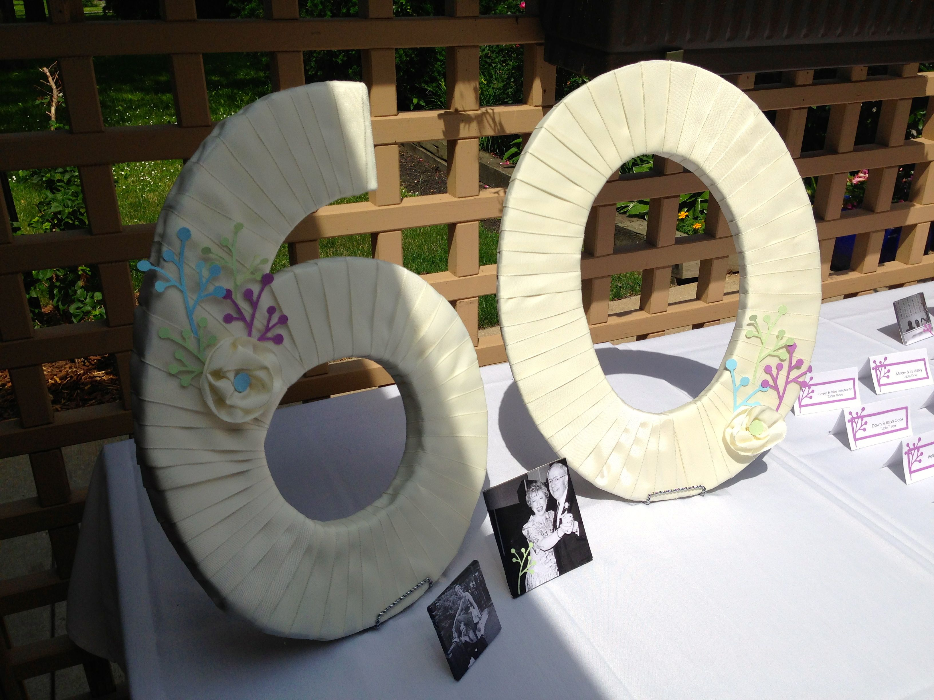 Diy wednesday 60th anniversary party 60th anniversary for 60th party decoration ideas