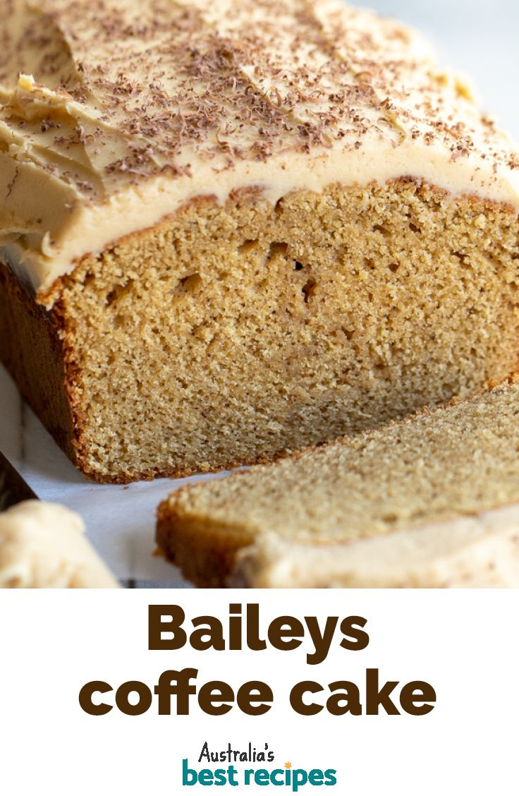 This delicious loaf cake has a double hit of coffee and Baileys for an indulgent, grown-up afternoon tea treat. #baileys #coffee #cake