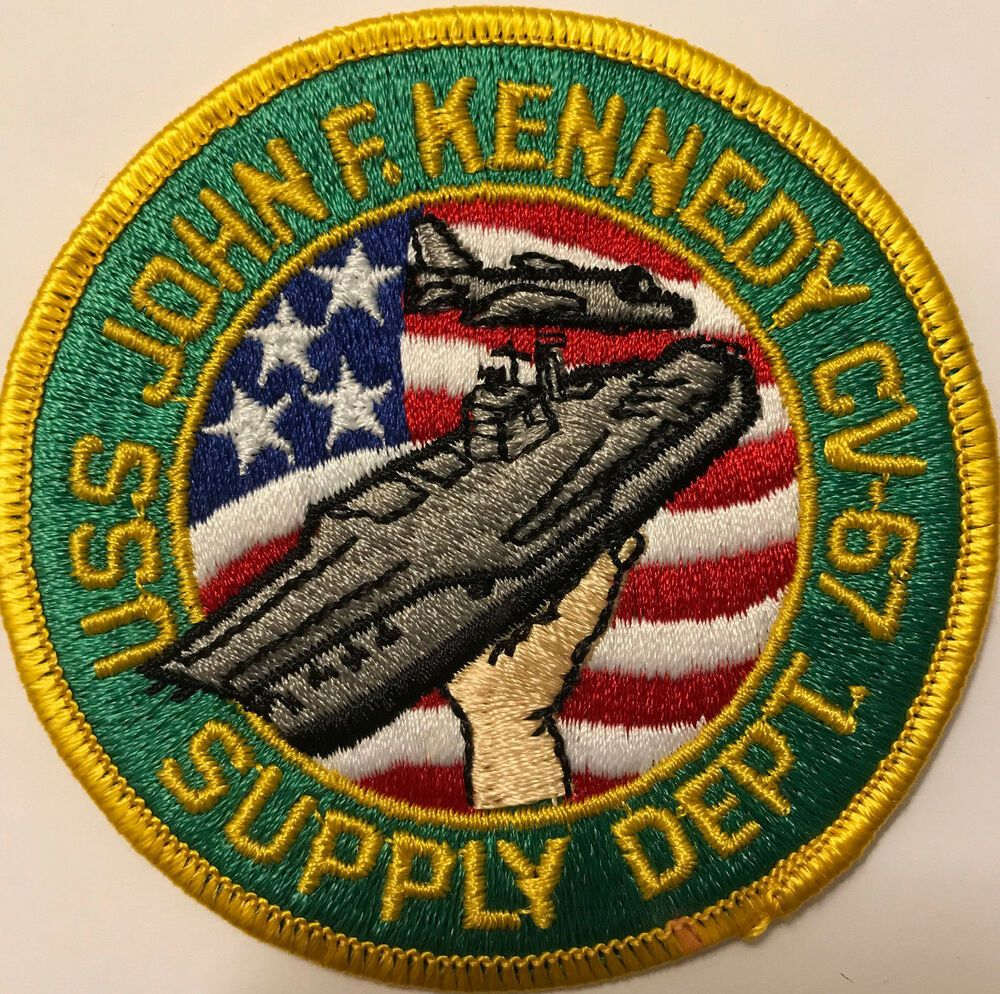 USS John F Kennedy CV67 Supply Dept US Navy Patch eBay