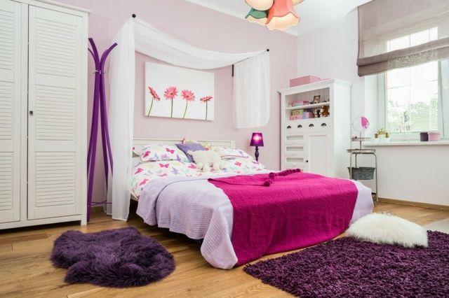 schlafzimmer rosa lila wei romantisch wohnung pinterest - Schlafzimmer Lila Wei