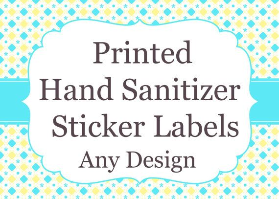 Printed Mini Hand Sanitizer Labels Baby Shower Custom