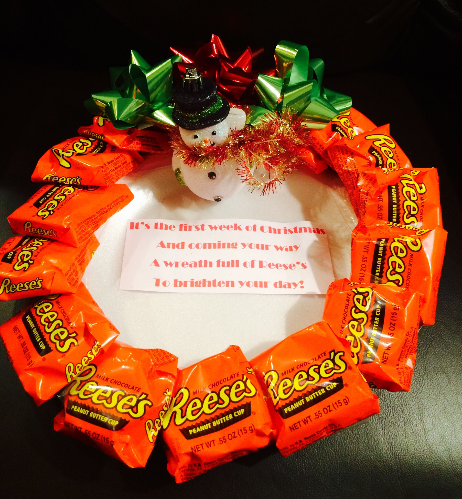Secret Santa Reeses Wreath