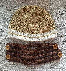 Ravelry: Bearded Hat pattern by Brooke Rabideau #crochetedbeards