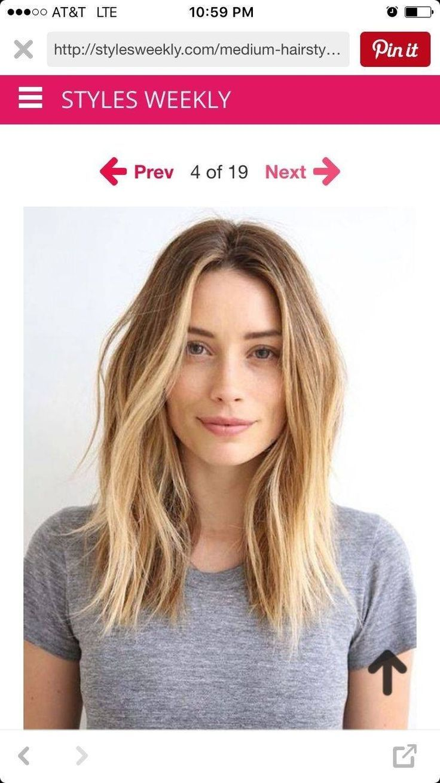 Schöne Frisuren für lange dünne Haare mit Fransen #longbob