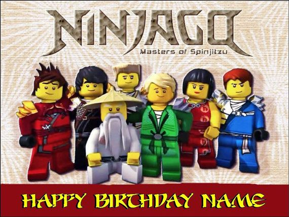 Lego Ninjago Edible Cake Topper 1 4 sheet by TammysToppers on Etsy - copy lego ninjago shadow of ronin coloring pages
