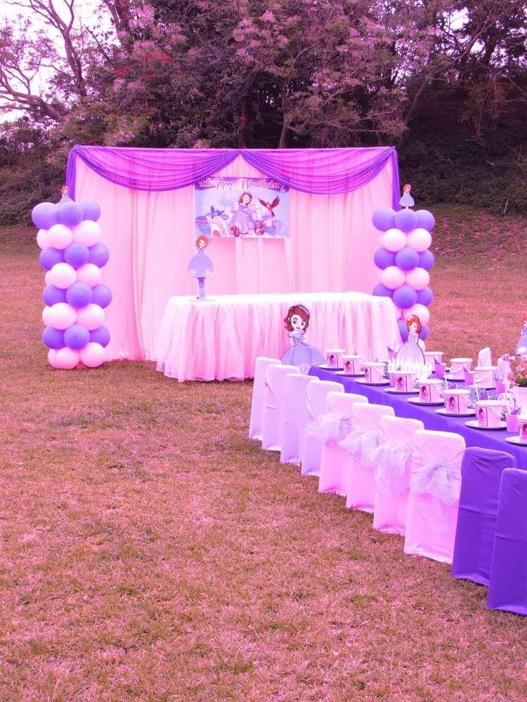 Princess Sofia Birthday Party Ideas Photo 1 Of 8 In 2020