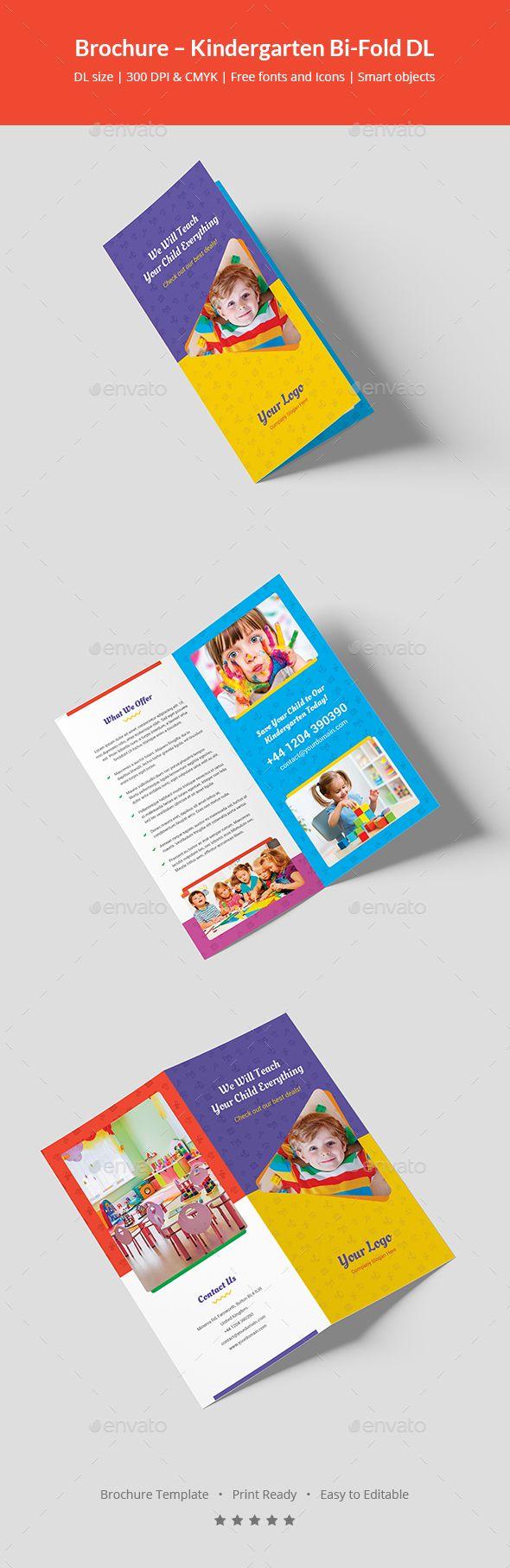 Brochure  Kindergarten BiFold Dl  Brochures Brochure Template