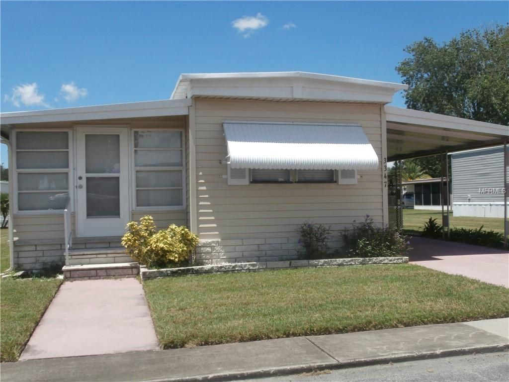 3347 Hampshire Drive Holiday Fl 34690 47 000 A Must See Completely Remodeled 1 Bedroom 1 Bath Single W Screened In Patio Side Porch Wall Air Conditioner