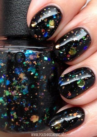 The Top 10 Glitters Of 2017 Opi Comet In Sky Over Black Nailpolish Glitter