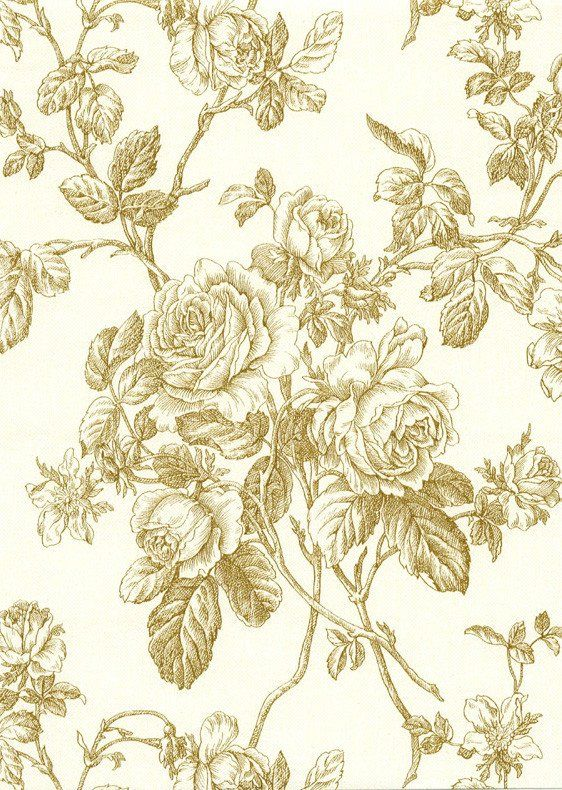 Elegant Gold Rose Trail Wallpaper Fd21504 Floral Wallpaper Wallpaper Childrens Slides