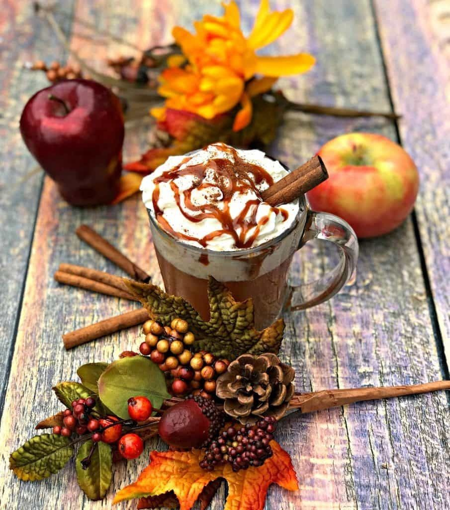 Thanksgiving Themed Drinks: Autumn Time Image By Migdalia Diaz