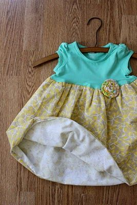 DIY onesie dress
