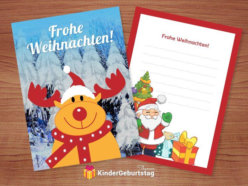 Weihnachtskarten Ausdrucken Vorlagen.Schöne Weihnachtskarten Selbst Basteln Kostenlose Vorlagen Zum