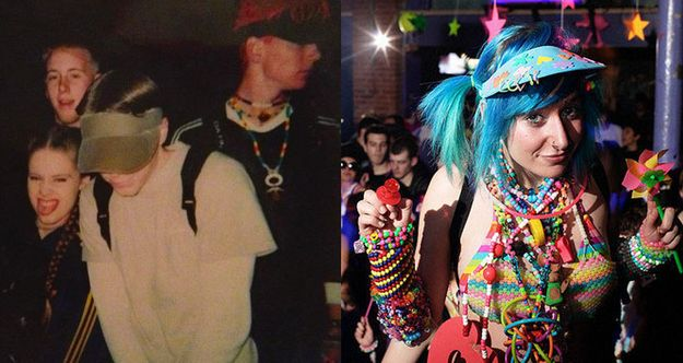 How to wear a visor then vs now rave kids in the 39 90s for 90s acid rave
