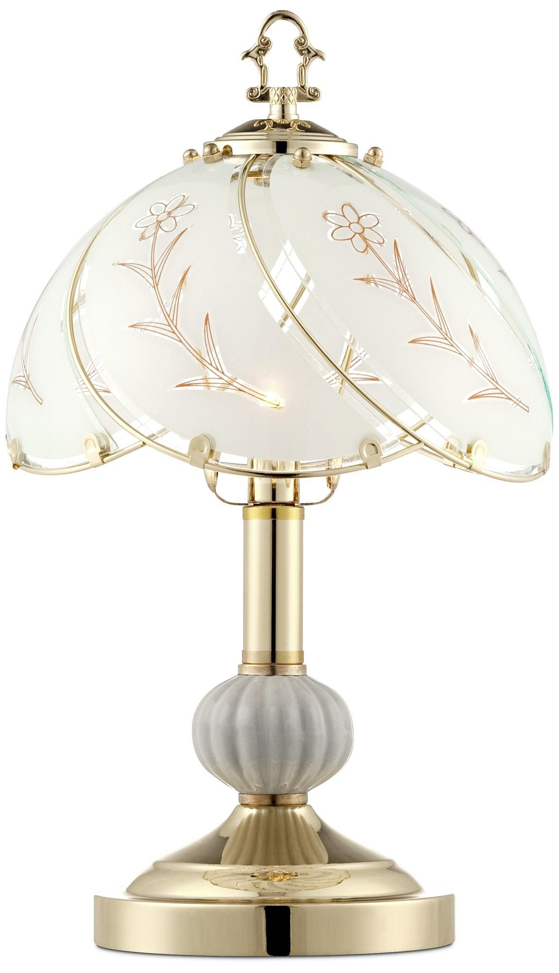 """Polished Brass 15"""" High Touch OnOff Accent Table Lamp"""
