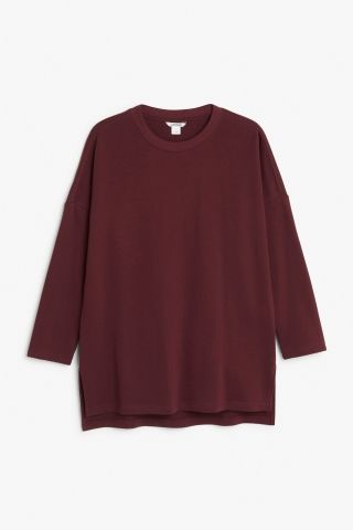 Monki Oversized sweater  in Red Bluish Dark