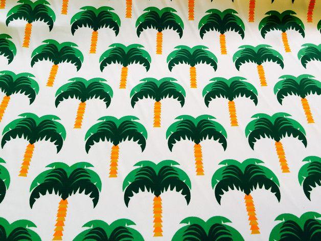 stoff grafische muster bonnie buttermilk kunstfaser stoff palm ein designerst ck von. Black Bedroom Furniture Sets. Home Design Ideas