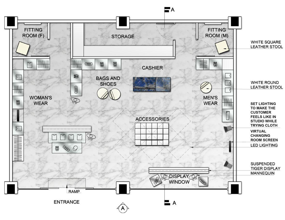 Pop Up Store Retail Store Interior Design Retail Store Design Store Layout