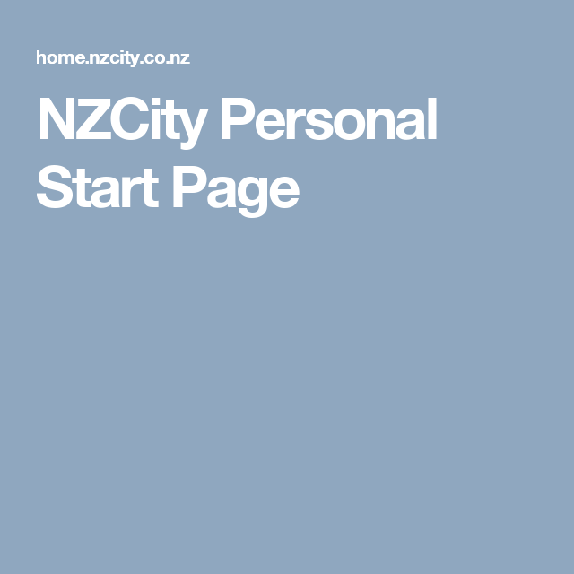 NZCity Personal Start Page