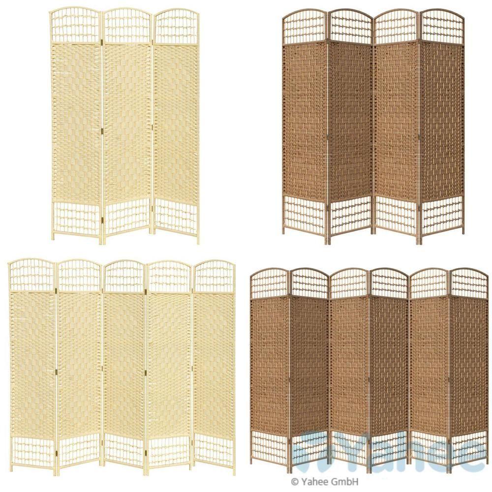 details zu paravent raumteiler trennwand bambus sichtschutz