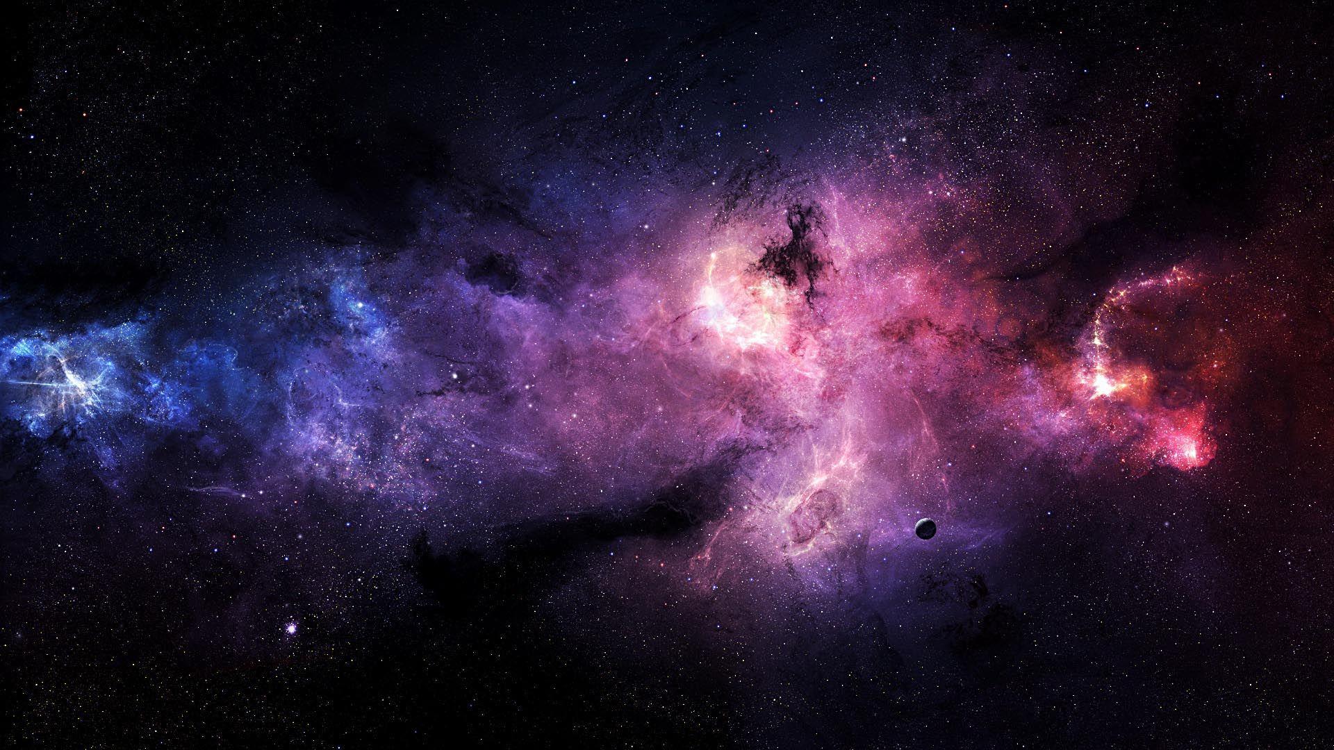 Stars Galaxies Purple HD Wallpaper Wallpaper space