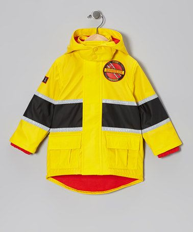 ee8d592974cd Take a look at this Yellow   Black Firefighter Raincoat - Infant ...