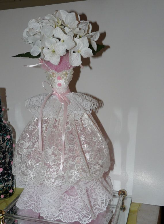 Wedding Victorian Shabby Styled Flower Arrangment by DRNLAGlass, $45.00