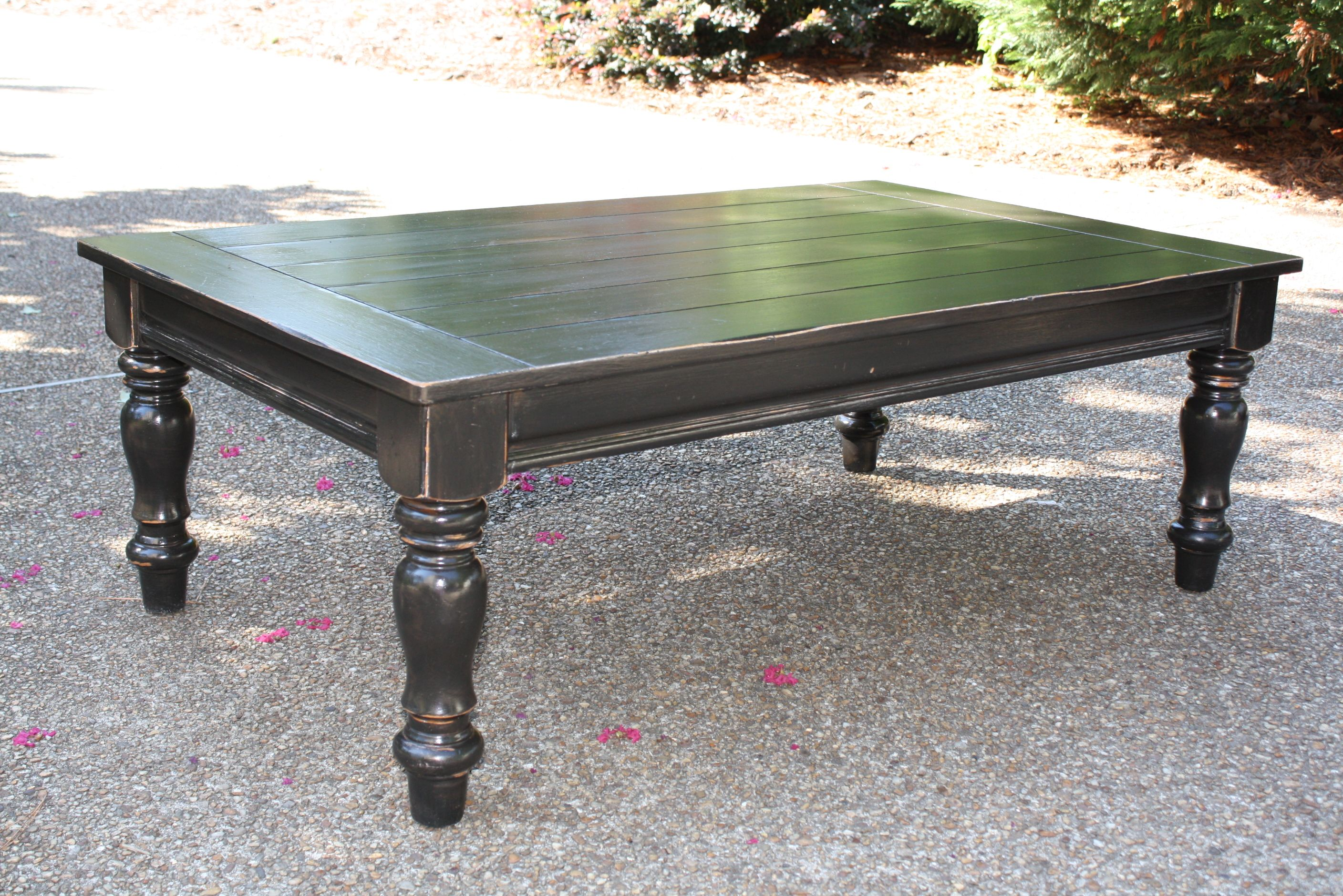 Chunky Black Coffee Table Black Coffee Tables Furniture Painted Furniture [ 1880 x 2816 Pixel ]