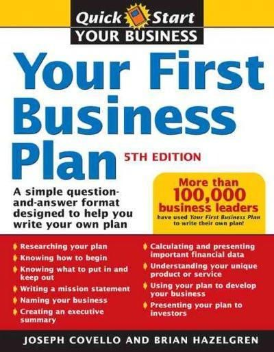 Your First Business Plan A Simple Question And Answer Format